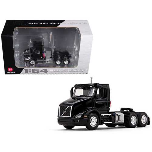 Volvo VNR 300 Day Cab Black 1/64 Diecast Model by First Gear