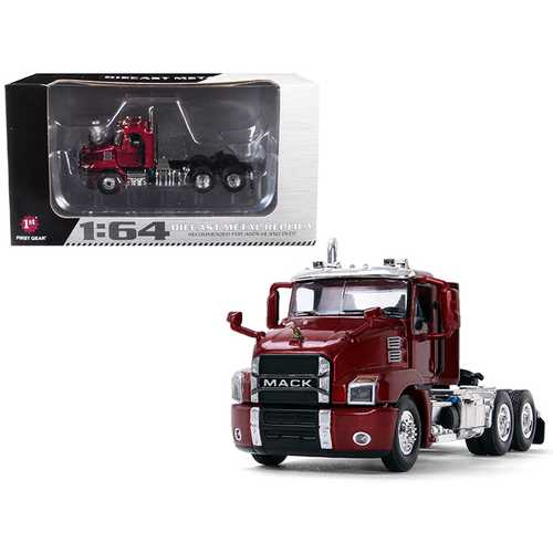 Mack Anthem Day Cab Lacquer Red 1/64 Diecast Model by First Gear