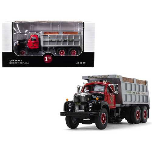 "Mack B-61 Tandem Axle Dump Truck ""Mack Hauling"" 1/64 Diecast Model by First Gear"