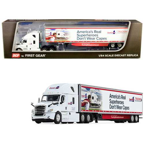 "2018 Freightliner Cascadia High-Roof Sleeper Cab with 53' Utility Trailer with Side Skirts ""Load One, LLC."" 1/64 Diecast Model by DCP/First Gear"