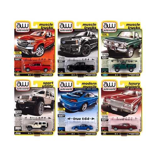 Autoworld Premium 2020 Set B of 6 pieces Release 5 1/64 Diecast Model Cars by Autoworld