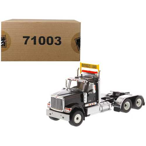International HX520 Day Cab Tandem Tractor Black 1/50 Diecast Model by Diecast Masters