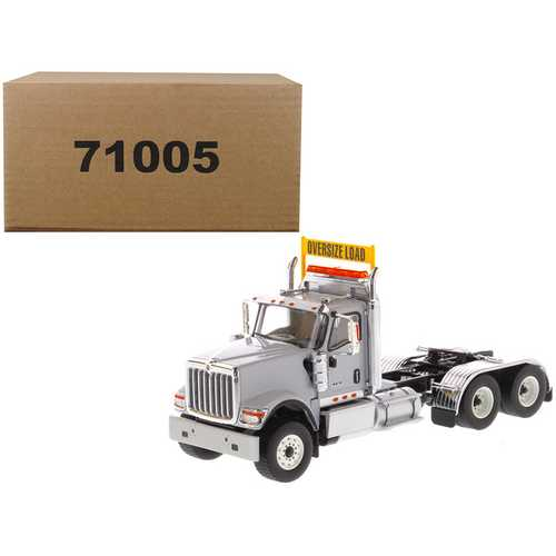International HX520 Day Cab Tandem Tractor Light Grey 1/50 Diecast Model by Diecast Masters