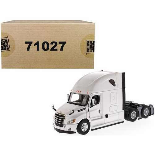 Freightliner New Cascadia Sleeper Cab Truck Tractor Pearl White 1/50 Diecast Model by Diecast Masters