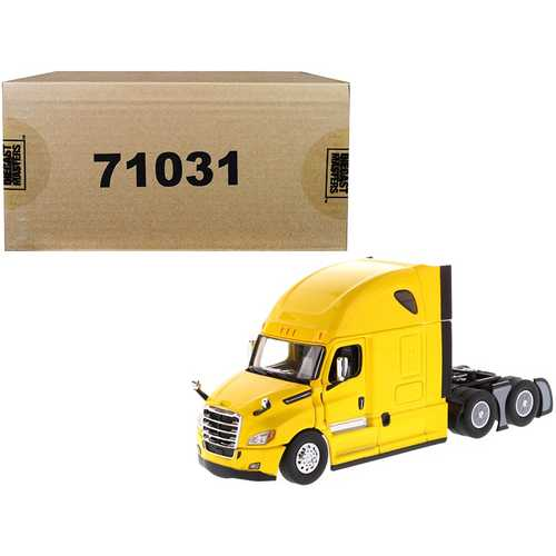 Freightliner New Cascadia Sleeper Cab Truck Tractor Yellow 1/50 Diecast Model by Diecast Masters