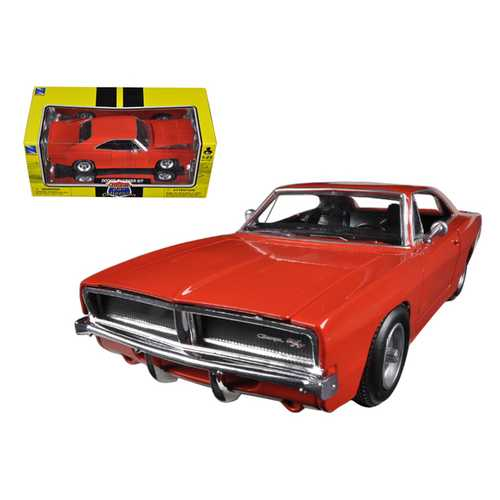 """1969 Dodge Charger R/T Orange """"Muscle Car Collection"""" 1/25 Diecast Model Car by New Ray"""