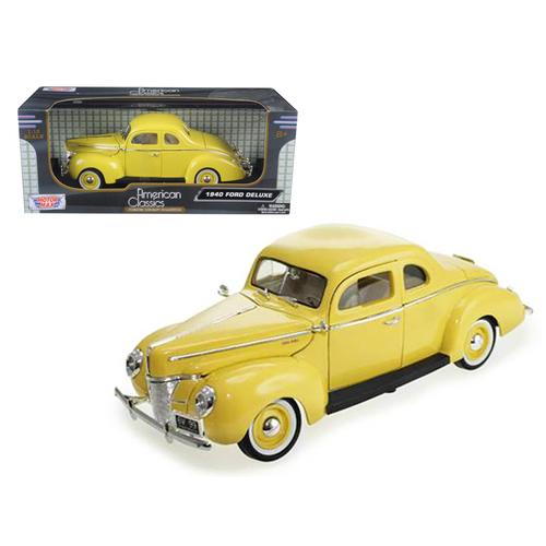 1940 Ford Coupe Deluxe Yellow 1/18 Diecast Car Model by Motormax