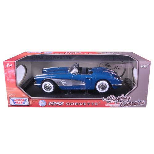 1958 Chevrolet Corvette Turquoise Timeless Classics 1/18 Diecast Model Car by Motormax