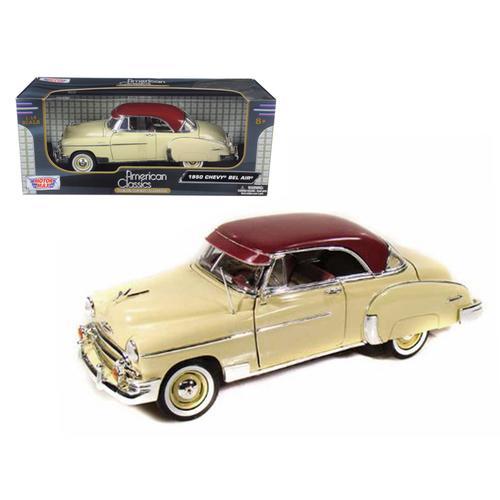 1950 Chevrolet Bel Air Cream 1/18 Diecast Model Car by Motormax