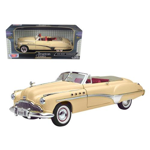 1949 Buick Roadmaster Cream 1/18 Diecast Model Car by Motormax