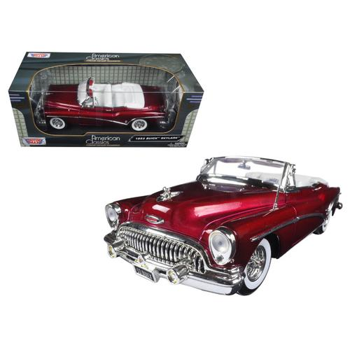 1953 Buick Skylark Burgundy 1/18 Diecast Model Car by Motormax
