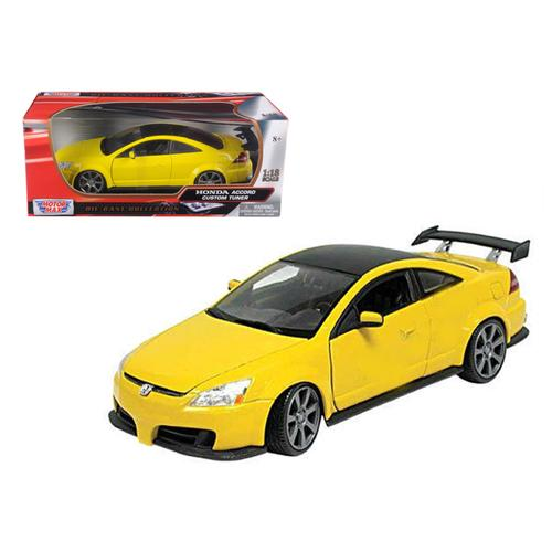 2003 Honda Accord Custom Tuner Yellow 1/18 Diecast Model Car by Motormax
