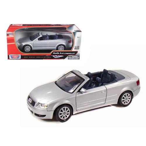 2004 Audi A4 Convertible Silver 1/18 Diecast Model Car by Motormax