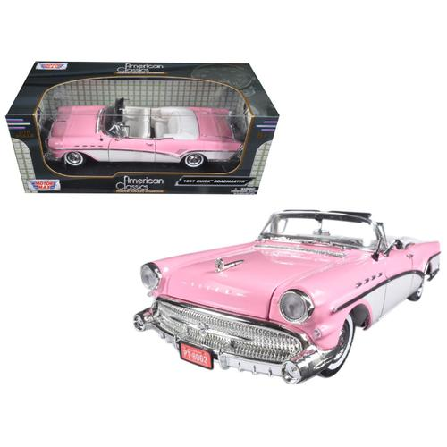 1957 Buick Roadmaster Pink 1/18 Diecast Model Car by Motormax