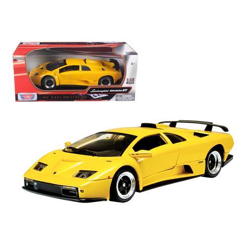Lamborghini Diablo GT Yellow 1/18 Diecast Model Car by Motormax
