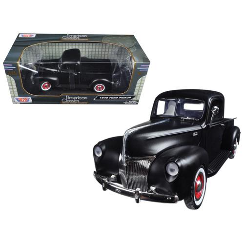 1940 Ford Pickup Matt Black 1/18 Diecast Model Car by Motormax