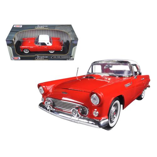 1956 Ford Thunderbird Hard Top Red 1/18 Diecast Model Car by Motormax