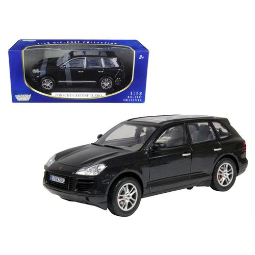 2008 Porsche Cayenne Turbo Metallic Black 1/18 Diecast Model Car by Motormax