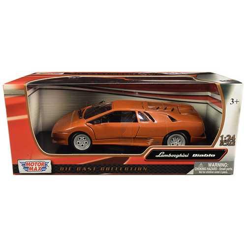 Lamborghini Diablo Copper Orange Metallic 1/24 Diecast Model Car by Motormax