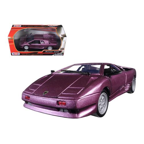Lamborghini Diablo Purple Metallic 1/24 Diecast Model Car by Motormax
