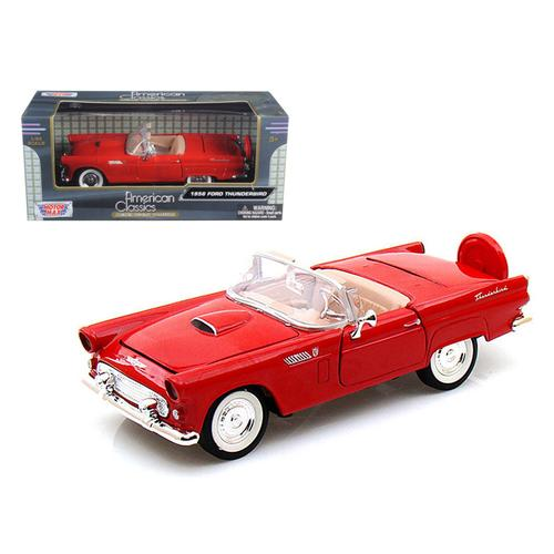 1956 Ford Thunderbird Convertible Red 1/24 Diecast Model Car by Motormax