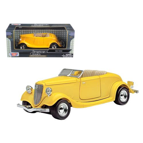 1934 Ford Coupe Yellow 1/24 Diecast Car Model by Motormax