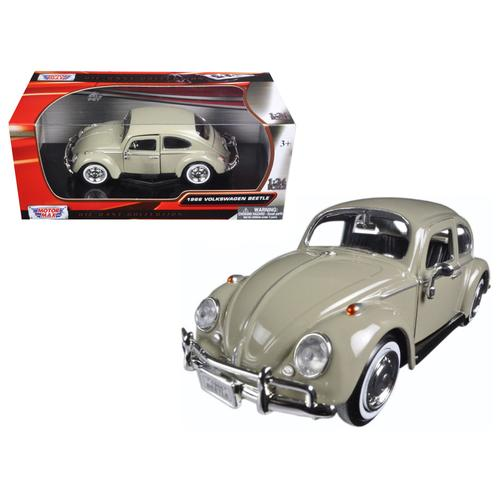 1966 Volkswagen Beetle Beige 1/24 Diecast Model Car by Motormax