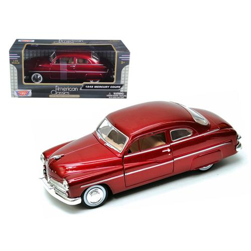 1949 Mercury Red 1/24 Diecast Car Model by Motormax