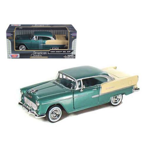 1955 Chevrolet Bel Air Green 1/24 Diecast Model Car by Motormax