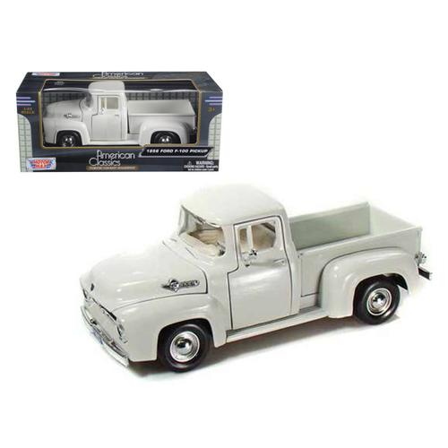 1956 Ford F-100 Pickup Truck White 1/24 Diecast Model Car by Motormax