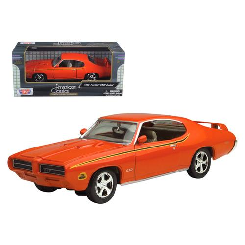 1969 Pontiac GTO Judge Orange 1/24 Diecast Model Car by Motormax