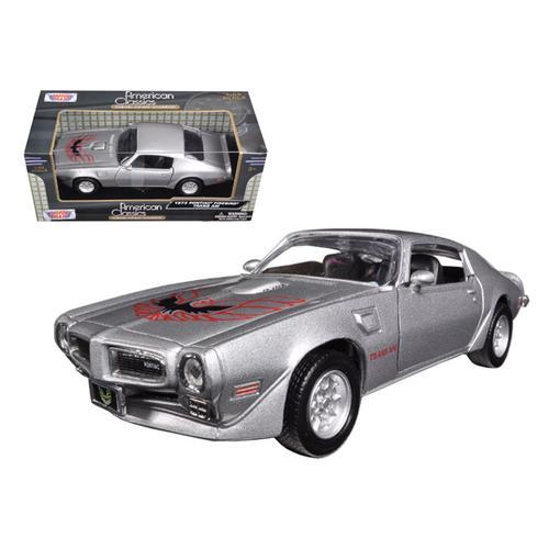 1973 Pontiac Firebird Trans Am Silver 1/24 Diecast Model Car by Motormax