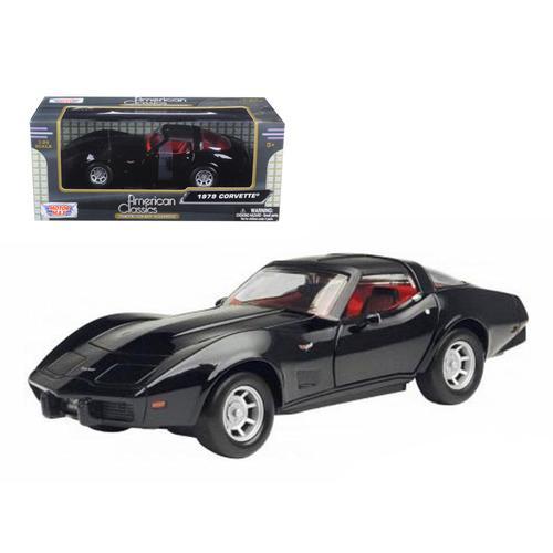 1979 Chevrolet Corvette Black 1/24 Diecast Car Model by Motormax