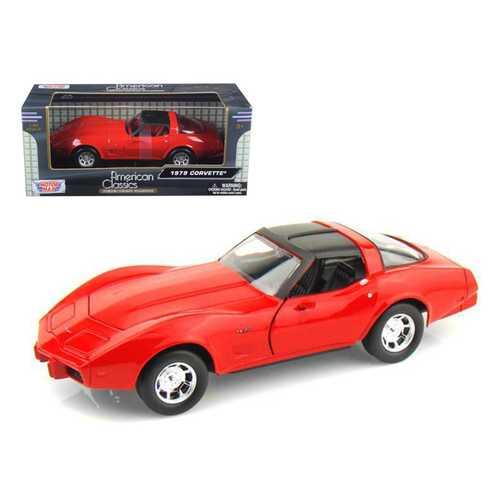 1979 Chevrolet Corvette Red 1/24 Diecast Model Car by Motormax