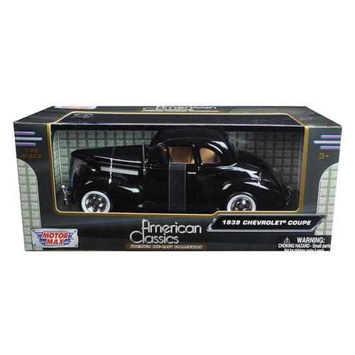 1939 Chevrolet Coupe Black 1/24 Diecast Model Car by Motormax