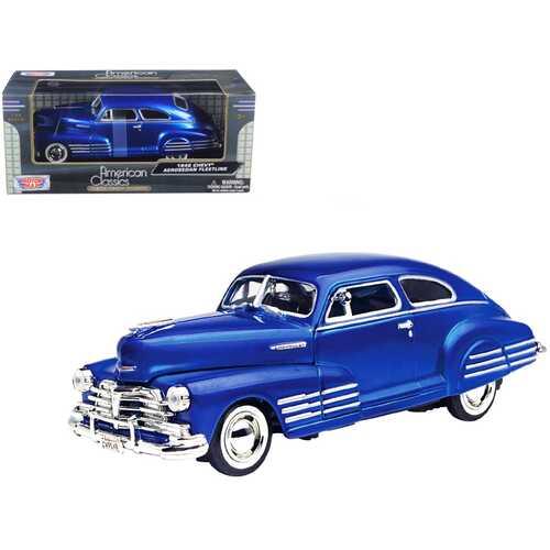 1948 Chevy Aerosedan Fleetline Blue 1/24 Diecast Model Car by Motormax