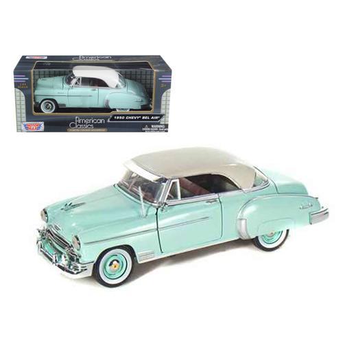 1950 Chevrolet Bel Air Green 1/24 Diecast Model Car by Motormax