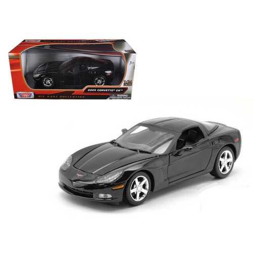 2005 Chevrolet Corvette C6 Coupe Black 1/24 Diecast Model Car by Motormax