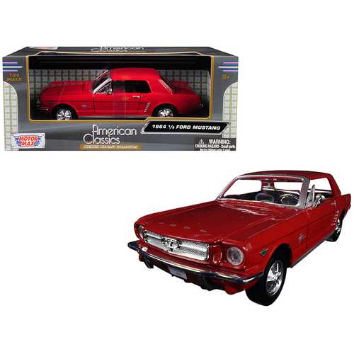 1964 1/2 Ford Mustang Red 1/24 Diecast Model Car by Motormax