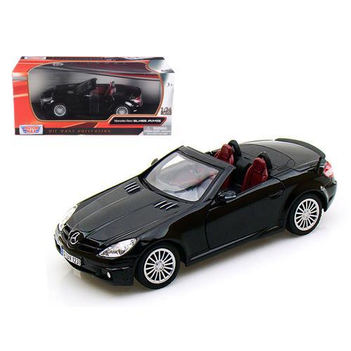 Mercedes Benz SLK55 AMG Convertible Black 1/24 Diecast Model Car by Motormax