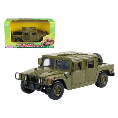 Humvee Military Cargo/Troop Carrier Green 1/24 Diecast Model Car by Motormax