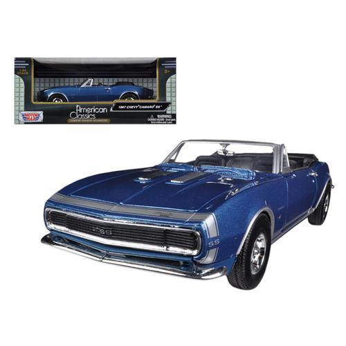 1967 Chevrolet Camaro SS Convertible Blue Metallic 1/24 Diecast Model Car by Motormax