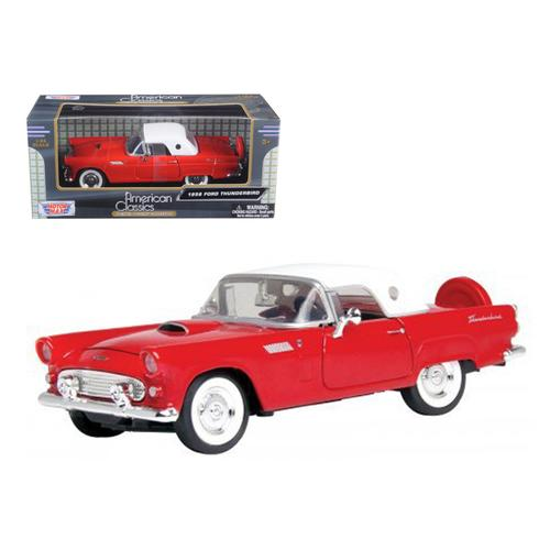 1956 Ford Thunderbird Red 1/24 Diecast Car Model by Motormax