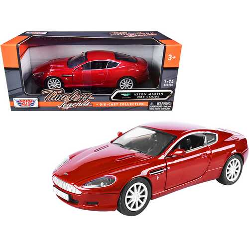 """Aston Martin DB9 Coupe Red """"Timeless Legends"""" 1/24 Diecast Model Car by Motormax"""