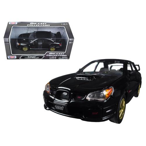 Subaru Impreza WRX STi Black 1/24 Diecast Model Car by Motormax