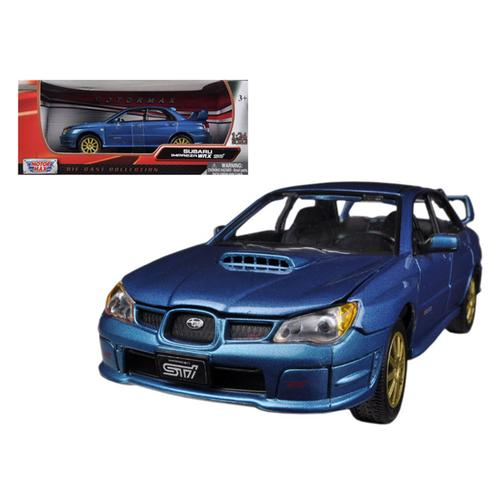 Subaru Impreza WRX STi Blue 1/24 Diecast Car Model by Motormax