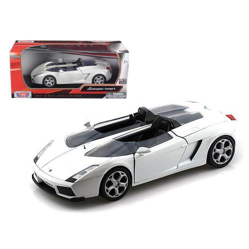 Lamborghini Concept S White 1/24 Diecast Car Model by Motormax