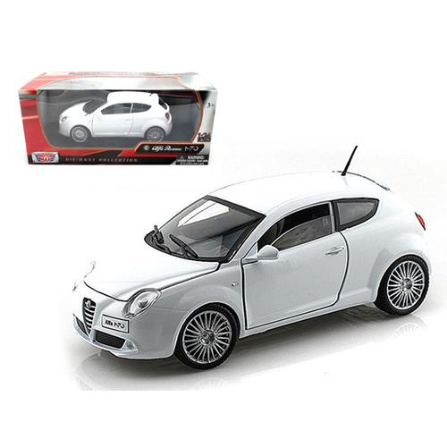 Alfa Romeo Mito White 1/24 Diecast Car Model by Motormax