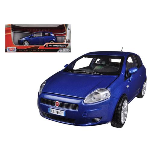 Fiat Grande Punto Blue 1/24 Diecast Car Model by Motormax