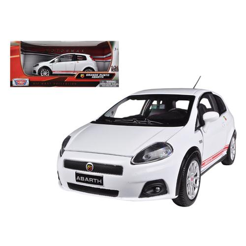 Fiat Grande Punto Abarth White 1/24 Diecast Car Model by Motormax